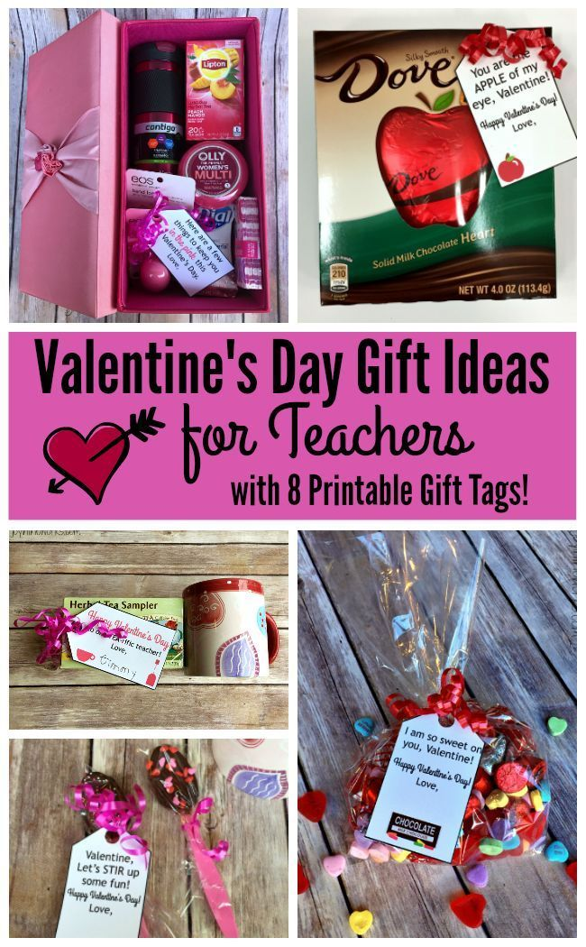 Valentine\'s Day Gift Ideas for Teachers | Free printable gift tags ...