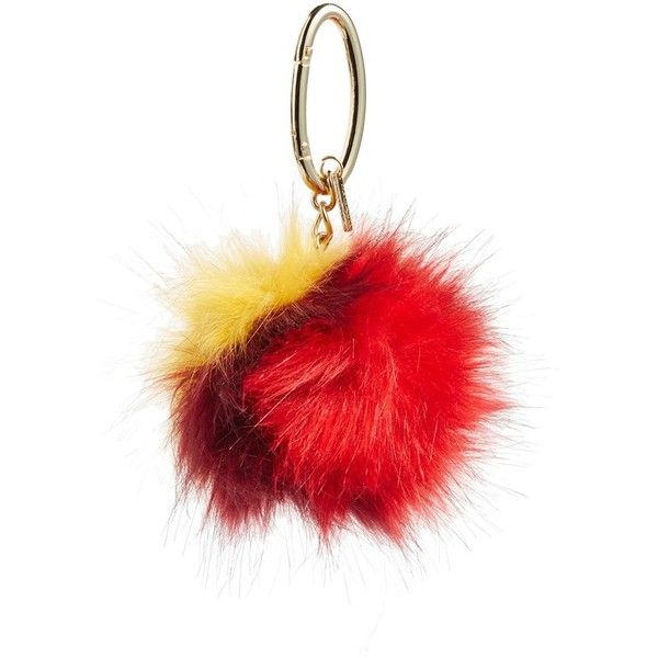 Women's Halogen Patchwork Faux Fur Pompom Bag Charm ($7.49) ❤ liked on Polyvore featuring accessories
