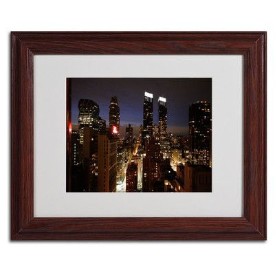 "Trademark Art ""City Lights"" by Ariane Moshayedi Matted Framed Photographic Print"