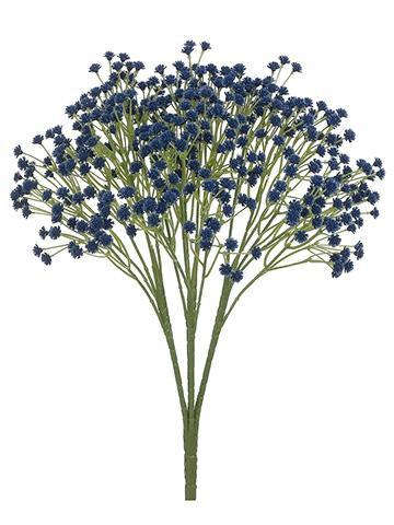 Dark Blue Real Touch Baby S Breath Bush Artificial Flowers Wedding Baby S Breath Wedding Flowers Dark Blue Flowers