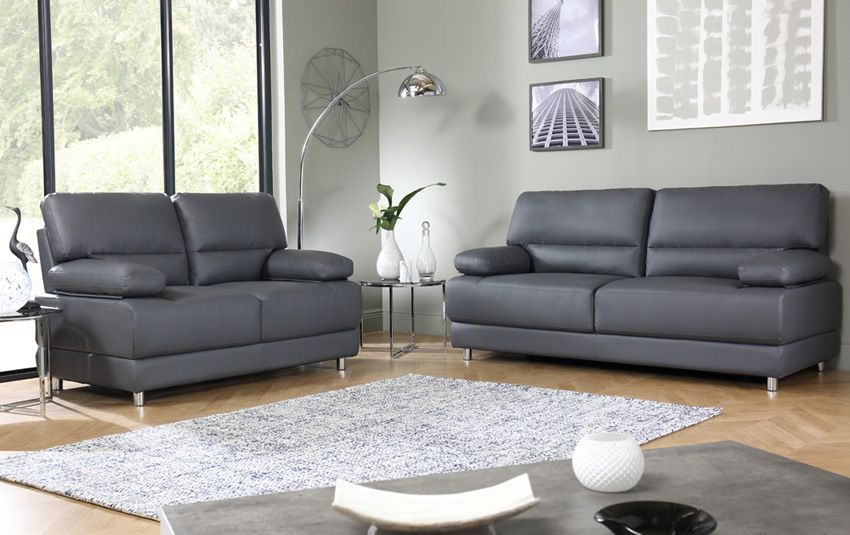 Excellent Rocco Grey Leather Sofa In 2019 Leather Sofa Best Leather Evergreenethics Interior Chair Design Evergreenethicsorg