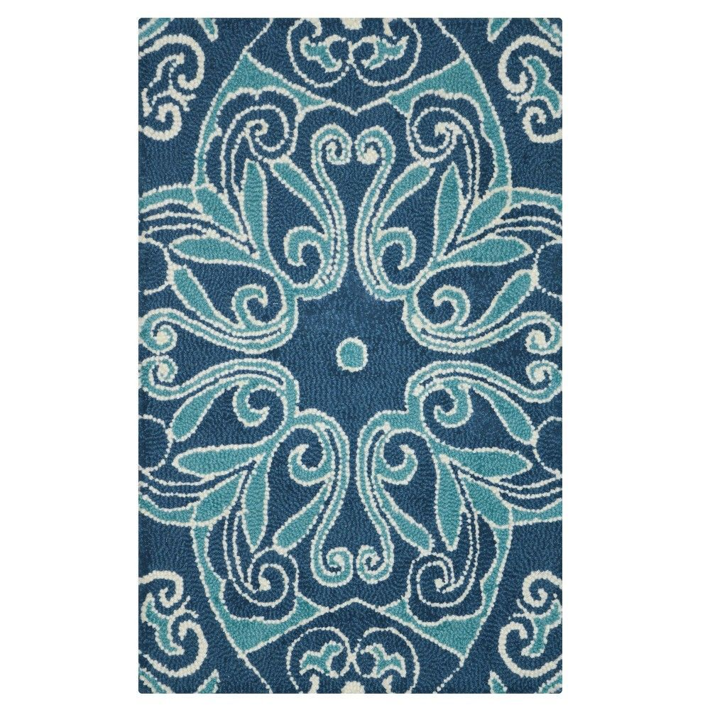 Blue Floral Accent Rug - (2'x3') - Threshold