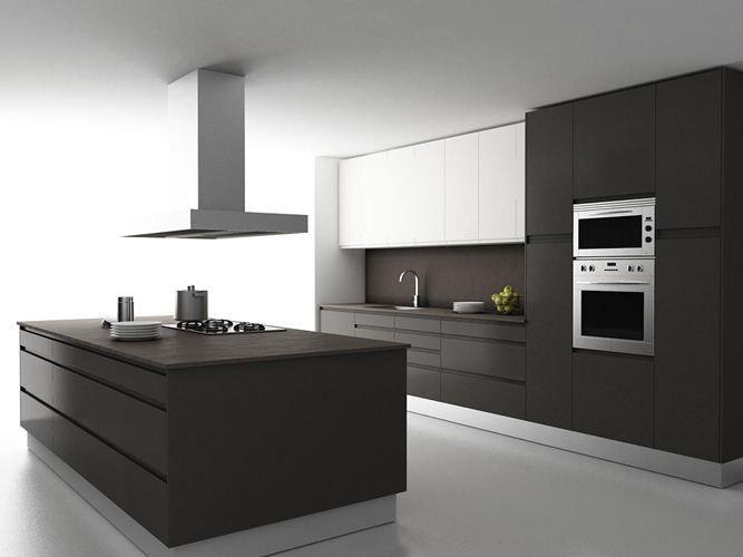 Implantation Cuisine Ilot 57 Modern Kitchen Remodel