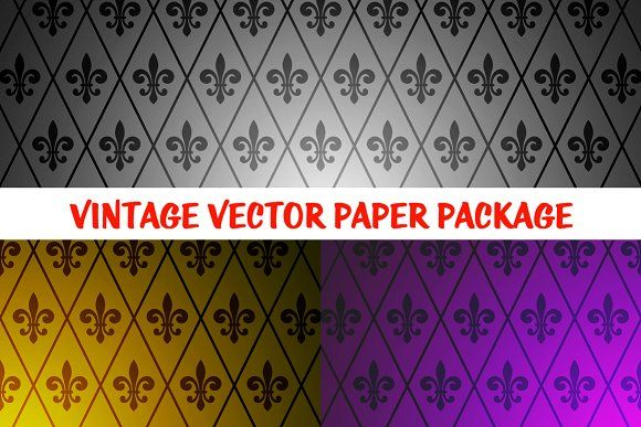 3 Fantastic Exclusive Retro Patterns by Kustomtype on @creativemarket