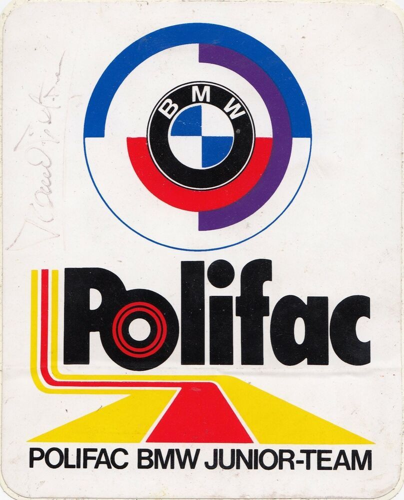 Hand Signed Ronnie Peterson Bmw Polifac Junior Team