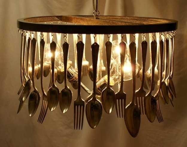unique kitchen lighting fixtures. 21 Unique Lighting Design Ideas Recycling Tableware And Kitchen Utensils Into Fixtures