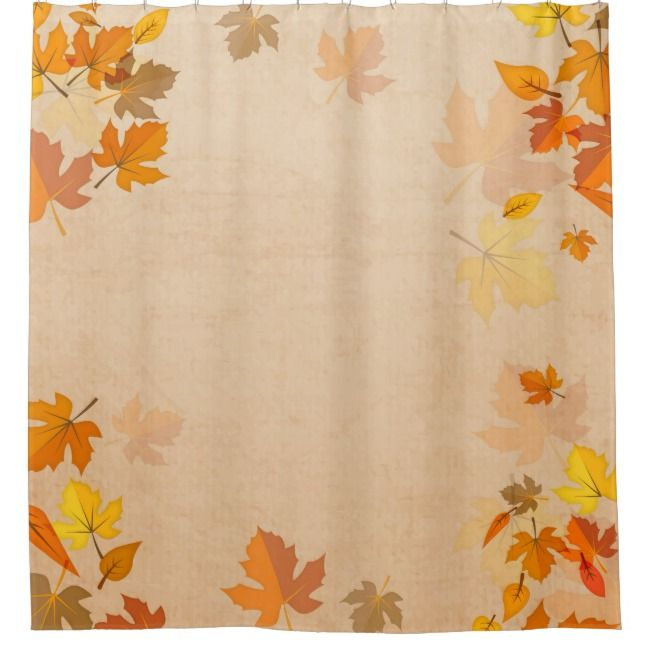 Autumn Leaves Gold Red Falling Maple Shower Curtain Zazzle Com
