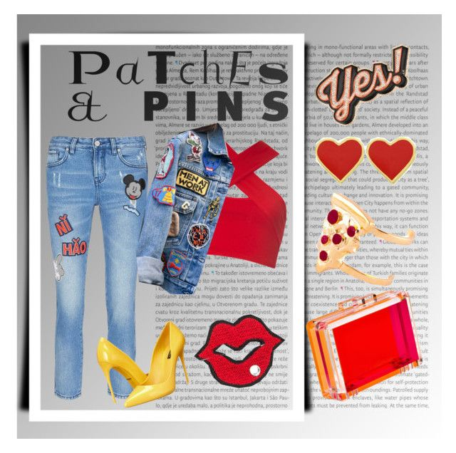 """""""pins me, patch me!!  #patchesandpins #polyvore"""" by fashionlibra84 ❤ liked on Polyvore featuring Oris, MO&Co., Anya Hindmarch, CC SKYE, Motel, Dolce&Gabbana, Glenda López and patchesandpins"""
