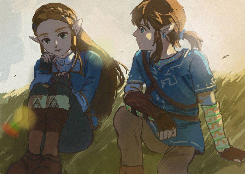 The Legend Of Zelda Breath Of The Wild Link And Zelda The
