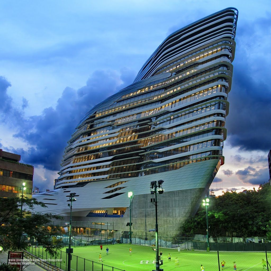 香港理工大學創新樓 V座 夜景 Night Scene Of Innovation Tower Block V The Hong Kong Polytechnic University Places Luoghi E Foto