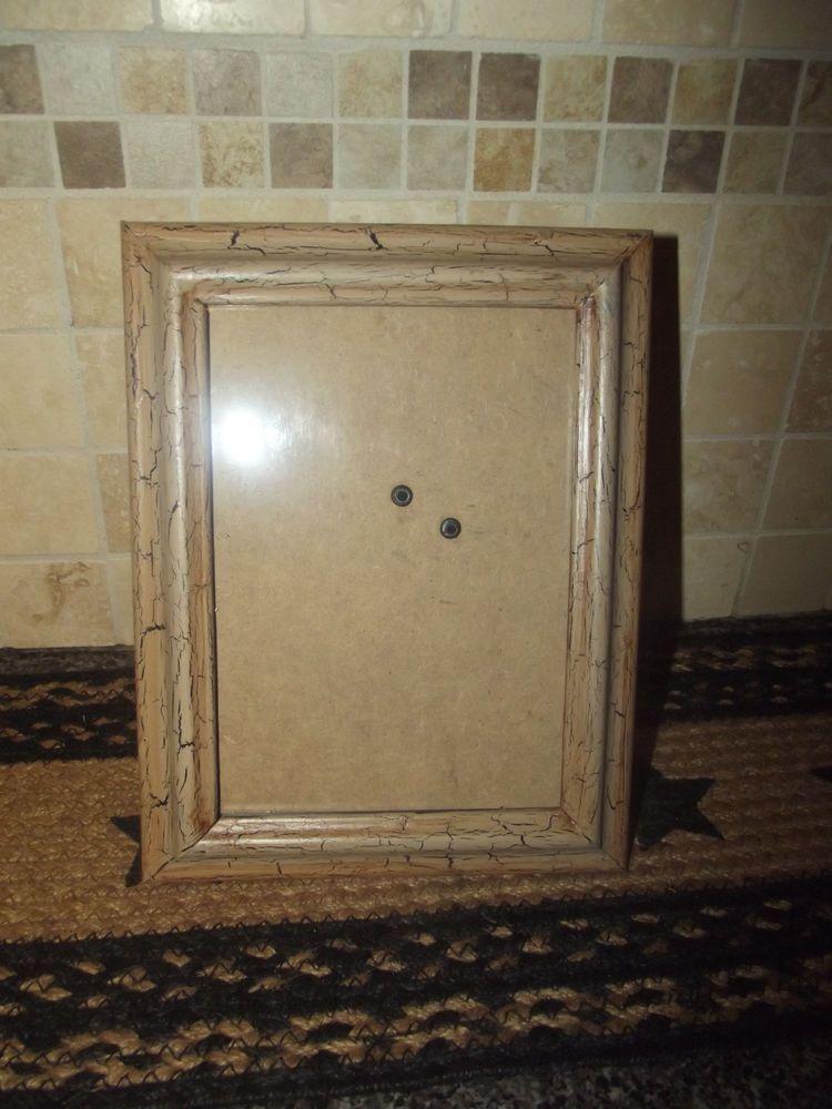 Primitive Wood Picture Frame 5x7  Crackle Tan No Stars  Country Decor #NaivePrimitive