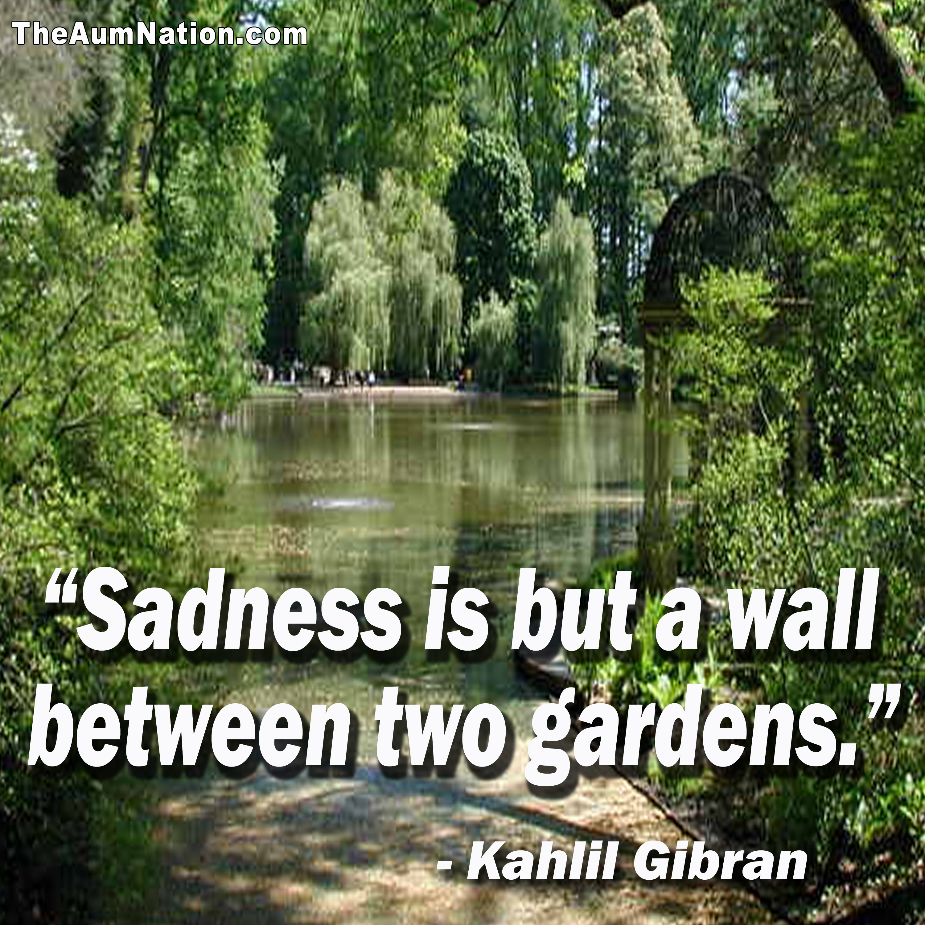 """Sadness is but a wall between two gardens."" - Kahlil Gibran  Hang in there...brighter days are coming!!!"