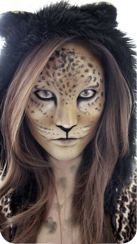 wild looking leopard makeup ideas pinterest makeup costumes and halloween makeup. Black Bedroom Furniture Sets. Home Design Ideas