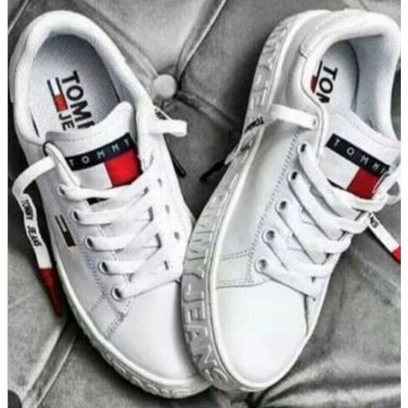 Weiss Tommy Hilfiger Herren Damen Sneaker Schuhe Sportschuhe Grosse 36 44 Herrenschuhe I Tommy Hilfiger Damen Schuhe Schuhe Herren Sneaker Schuhe Turnschuhe