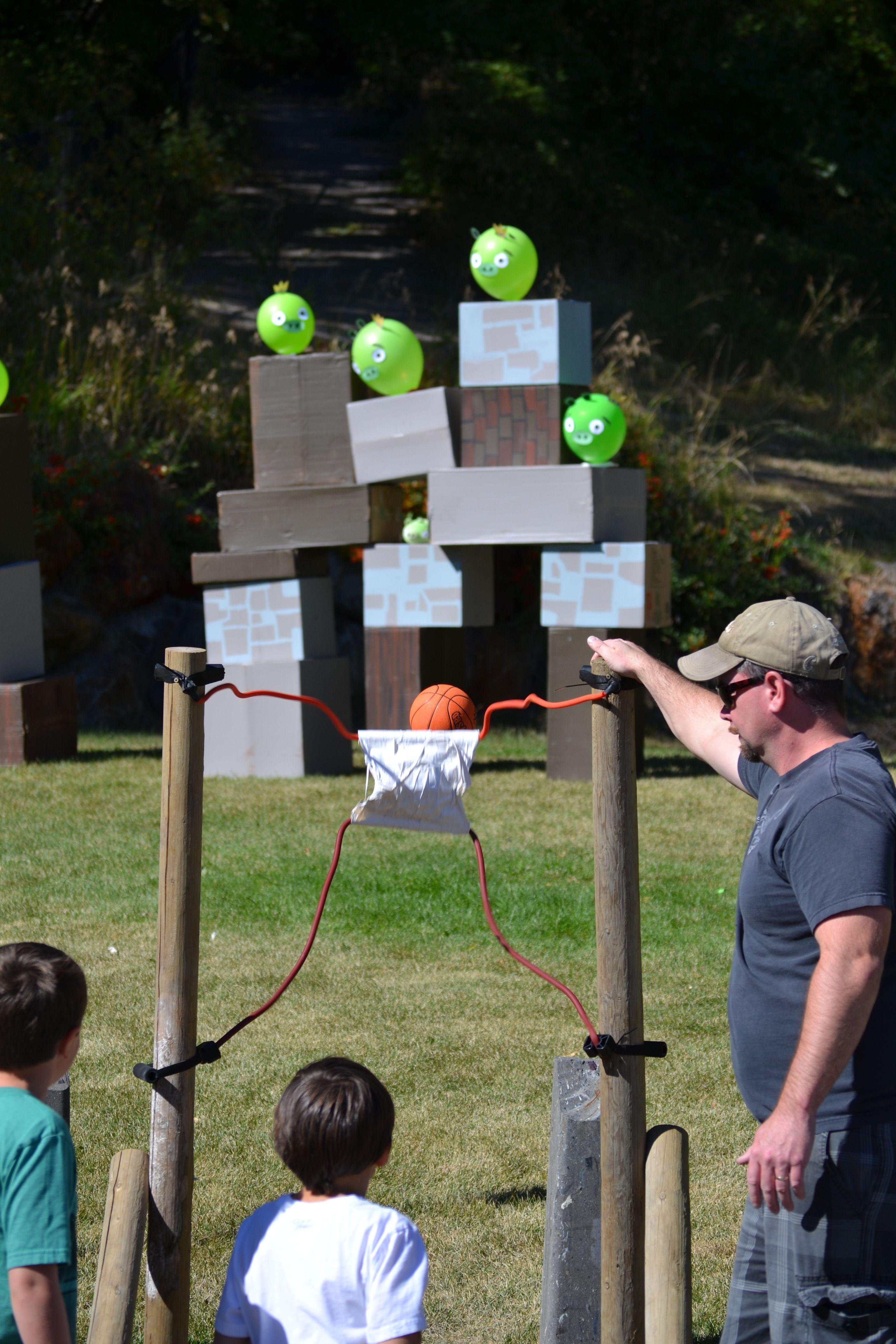 Angry Bird Sling Shot Carnival Pinterest Juegos Campamento