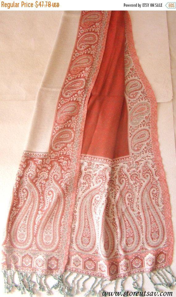 SALE-20% OFF Shawl Pashmina Wool & Silk Blend by StoreUtsavFashion