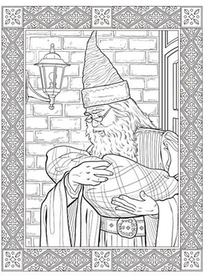 A Page From The New Harry Potter Colouring Book