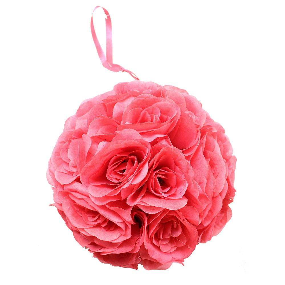 Get coral artificial wedding flowers like this gorgeous, faux coral ...