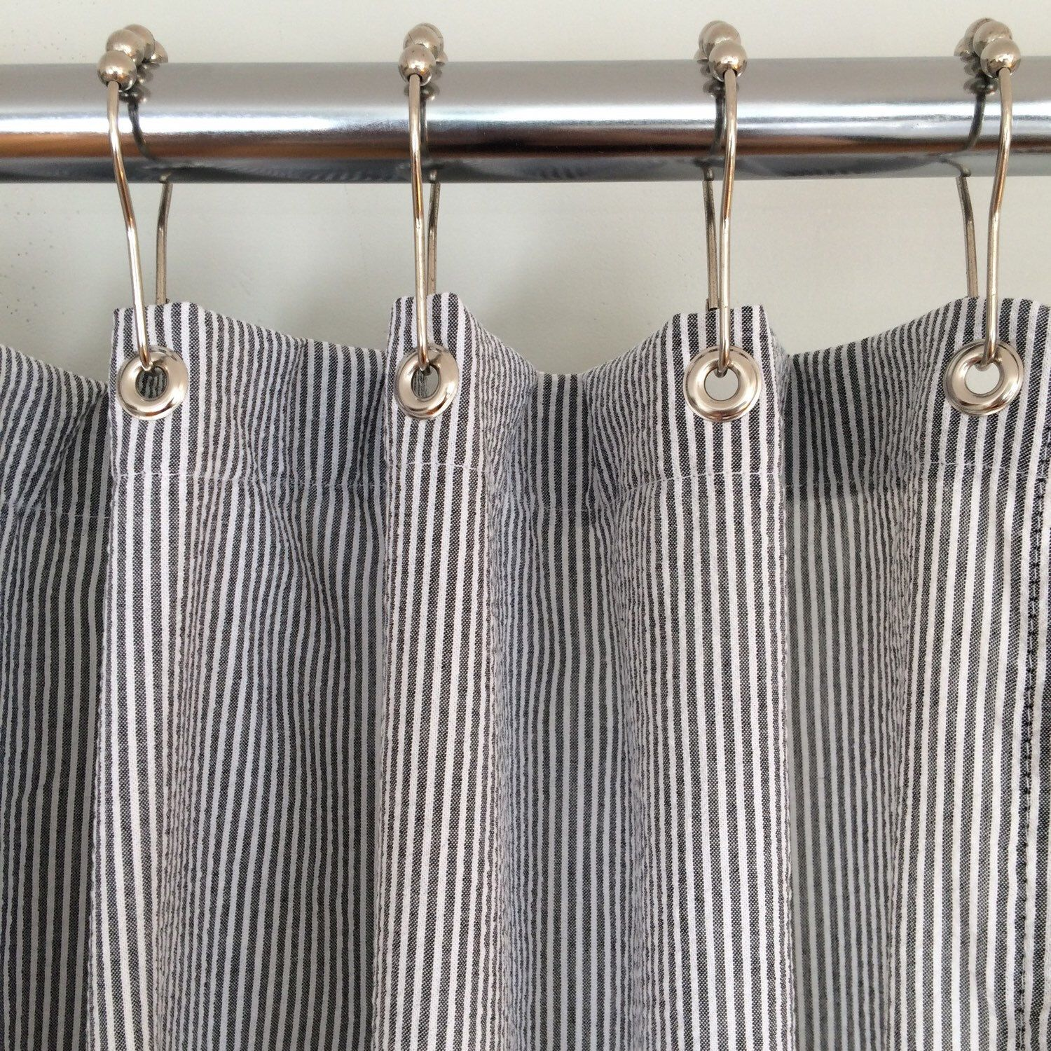 Our Classic Woven Seersucker Shower Curtains Are A Perfect