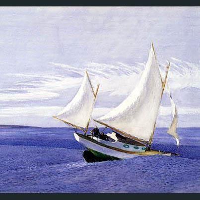 Yawl Riding a Swell  ~ Edward Hopper, 1935