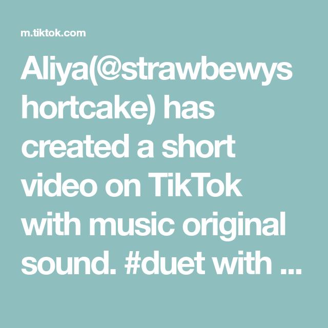 Aliya Strawbewyshortcake Has Created A Short Video On Tiktok With Music Original Sound Duet With Elite Oliver Cozylit Elevator Music The Originals Videos