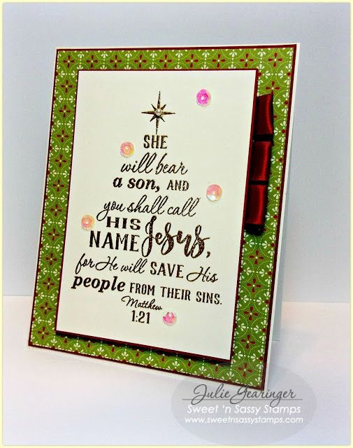 fun christmas card with scripture by julie gearinger - Christmas Card Scripture