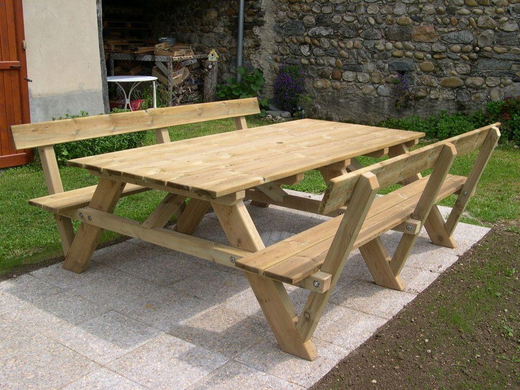 Plan Pour Fabriquer Une Table De Jardin construction d'une table pique-nique | asv850 | diy picnic