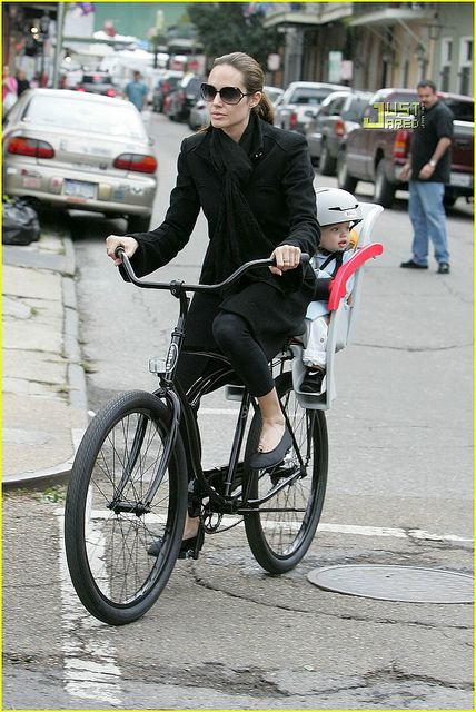 Bicycle Celebrities Famous People Riding Bicycles Angelina