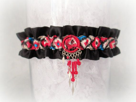 Native American style garter - Special occasion garter - Native American Wedding.