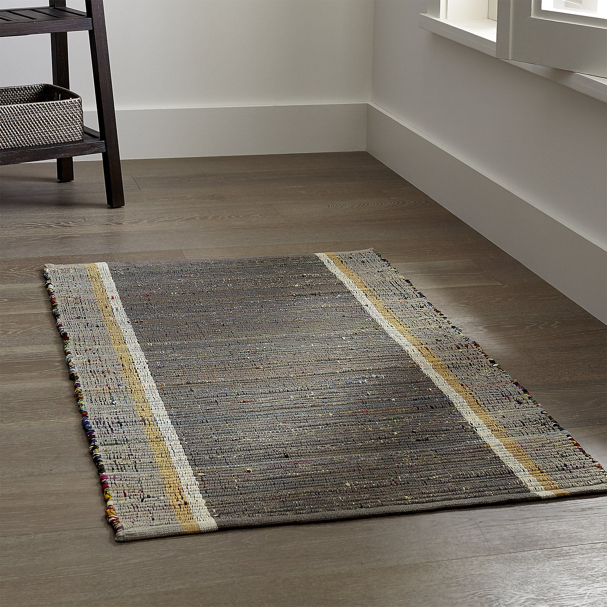 Quentin Grey Cotton Rug Crate And Barrel
