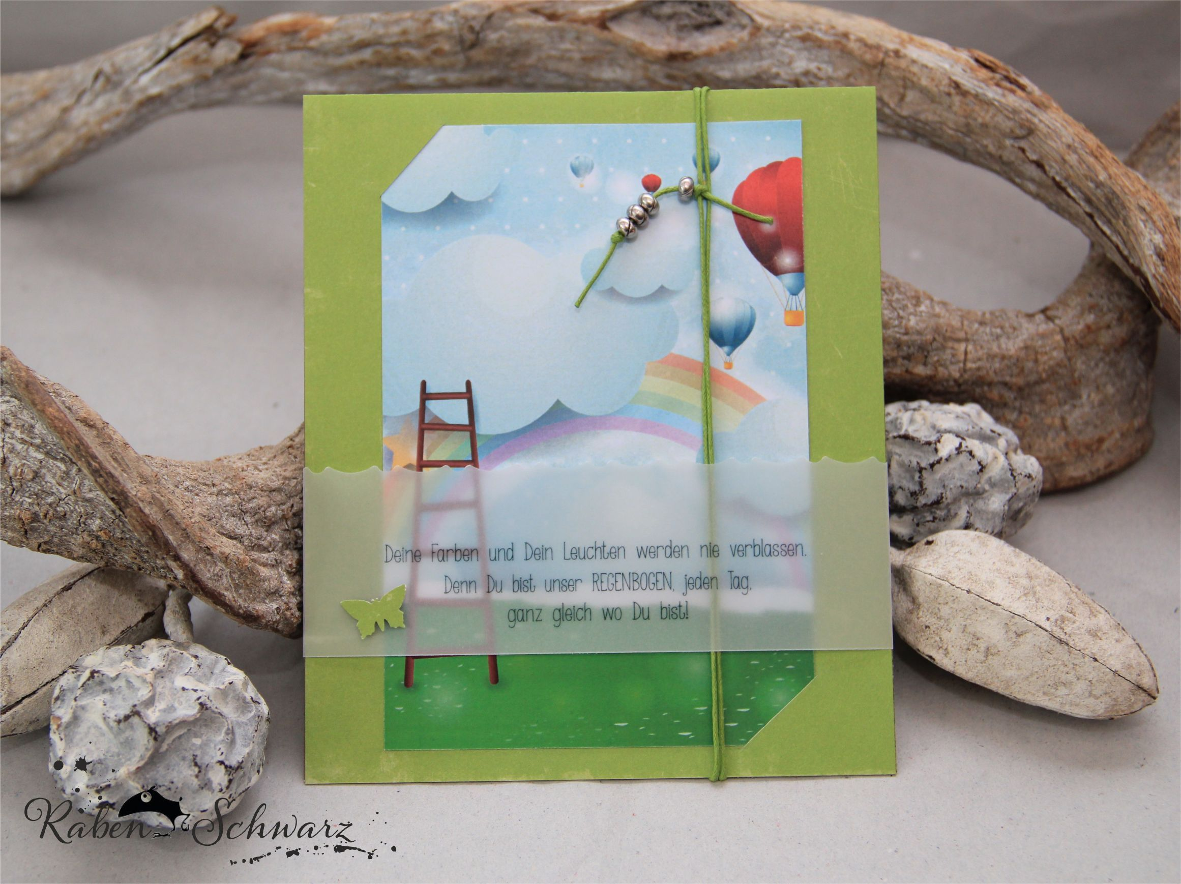 Trauer & Trost Regenbogen - Trauerkarte