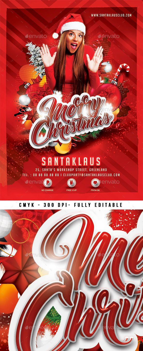 Merry Christmas Christmas Flyer Flyer Template And Party Flyer