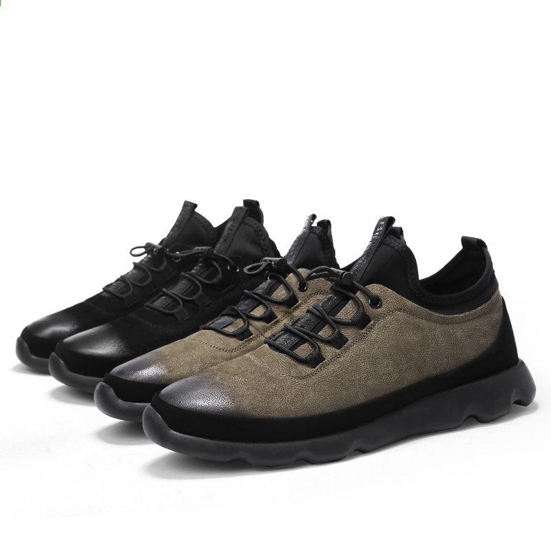 buy online 2755c 4bf7b Męskie obuwie skórzane Oryginalne męskie mieszkania sznurowane solidne  Luksusowe markowe markowe obuwie męskie Trendy 8702 drop