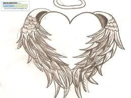 Heart with Wings and Halo Tattoo Designs | heart wrapped ... Angel Wings Heart Halo