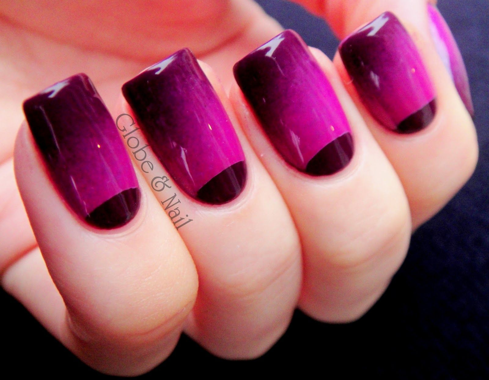 30 Easy Examples Of Omber Mani Nail Art