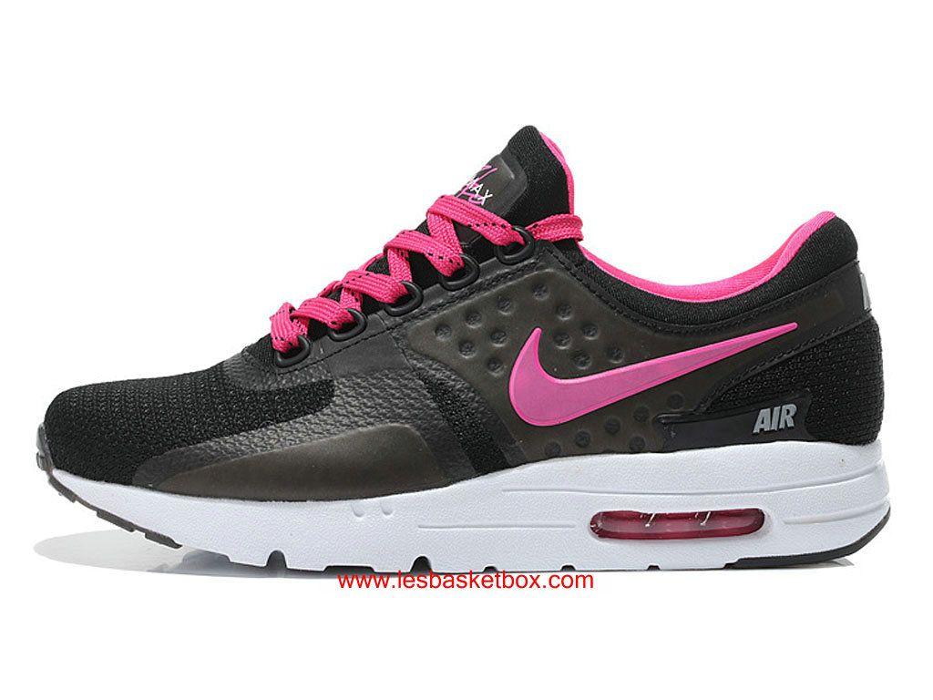 timeless design 457f0 be89d Chaussures Nike Air Max Zero Noir Rose Pas Cher Pour Femme Enfant -  1610190330 -
