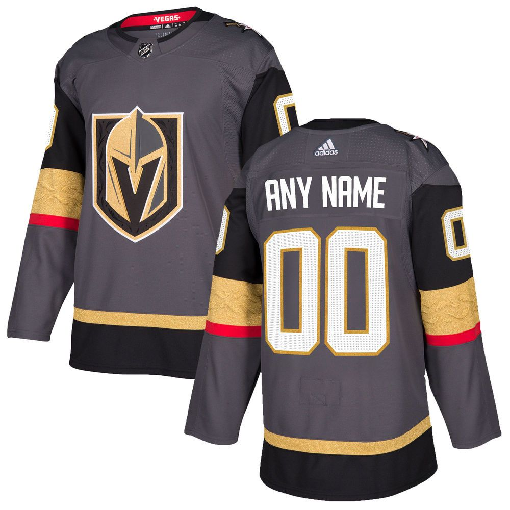 Men S Vegas Golden Knights Adidas Gray Authentic Custom Jersey In 2020 Vegas Golden Knights Nhl Jerseys Golden Knights Jersey