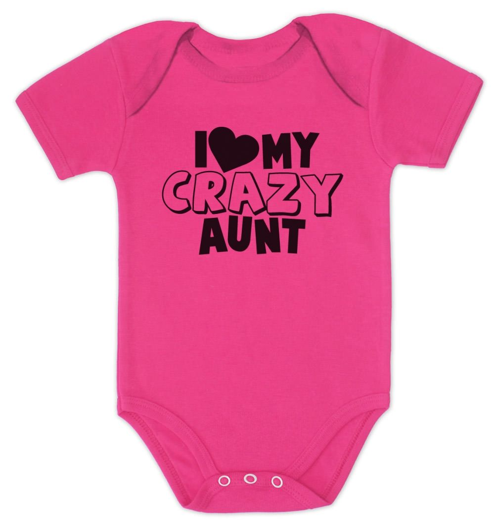 I Love my CRAZY Aunt  FUNNY  LONG SLEEVE Onesie Great Gift