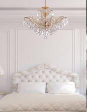 Glamour Shots Traditional Bedroom Crystal Chandelier Bedroom