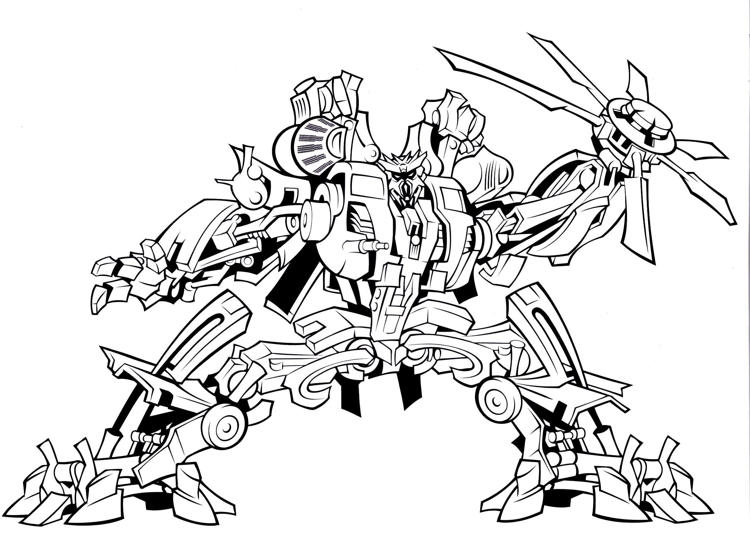 Bulkhead Transformer Coloring Page | Cartoon