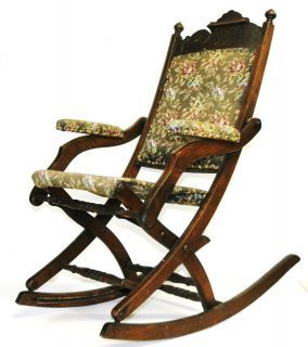 Swell Antique Folding Rocking Chair W Arms Sewing Victorian Pdpeps Interior Chair Design Pdpepsorg