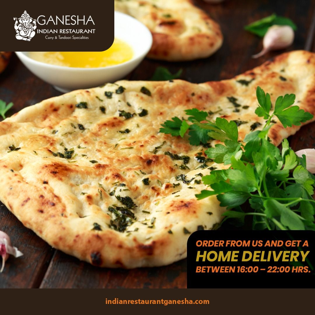 A tandoor style cooked naan that initiates nostalgic flavours. Order from us and get a home delivery between 16:00 – 22:00 hrs. . . . #IndianFood #Food #Foodie #FoodPorn #IndianRecipe #Dessert #VegetarianRestaurant #VegetarianFood #NonVegetarianRestaurant #NonVegetarianFood #AsianFood #SeaFood #Meals #GaneshaRestaurant #Ganesha #IndianRestaurant #SafeEnvironment