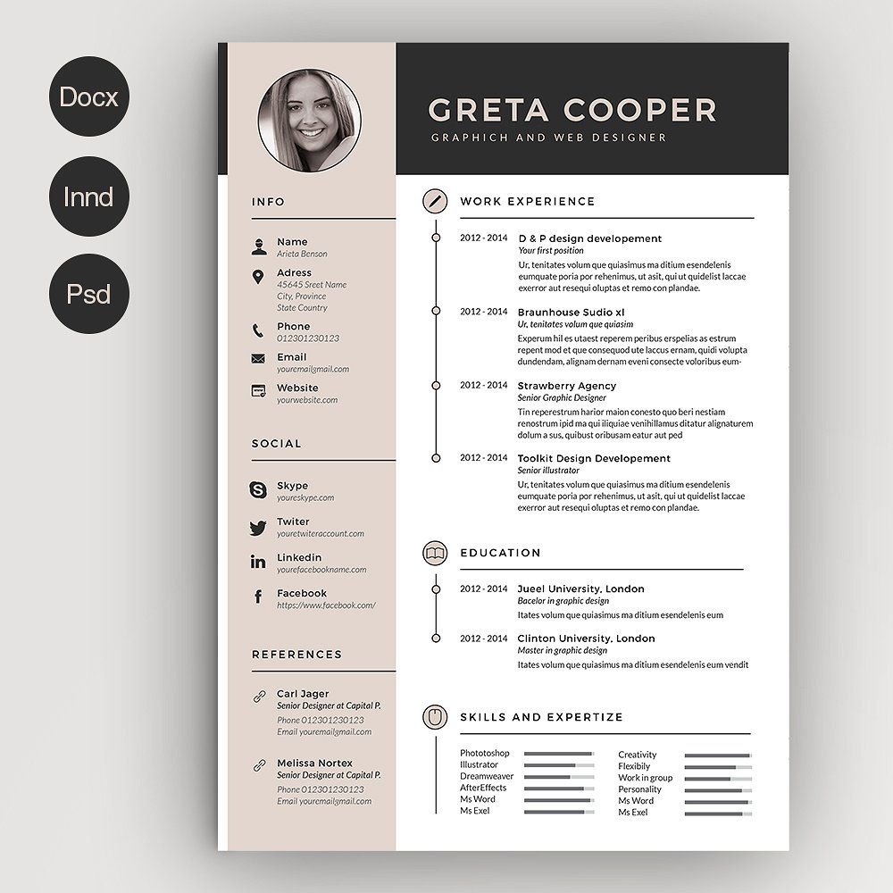 Clean CvResume Ii    Template Cv Template And Creative