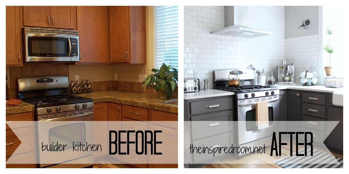 Kitchen Cabinet Colors Before After Repainting Kitchen