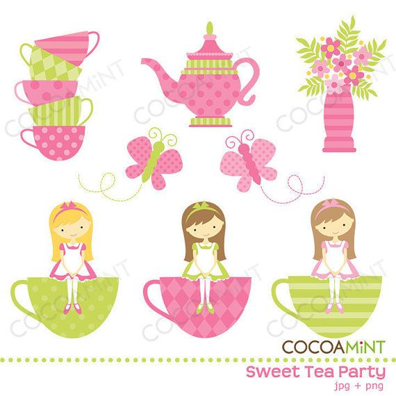 design services cocoamint retired  on pinterest tea party clip art black and white tea party clip art images