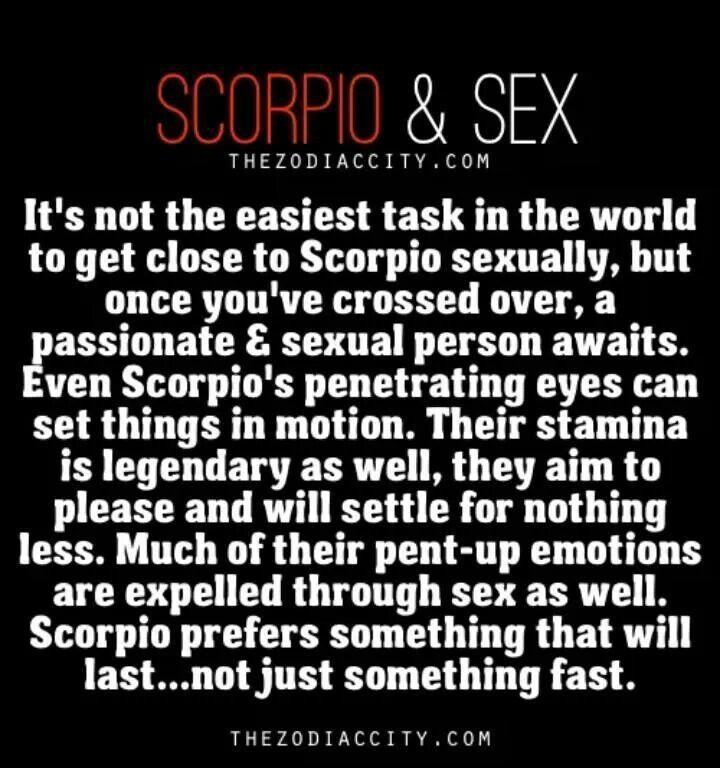 Scorpio woman sexual traits