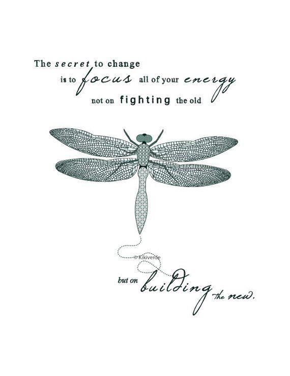 Printable Artwork Dragonfly illustration typography art print | Etsy