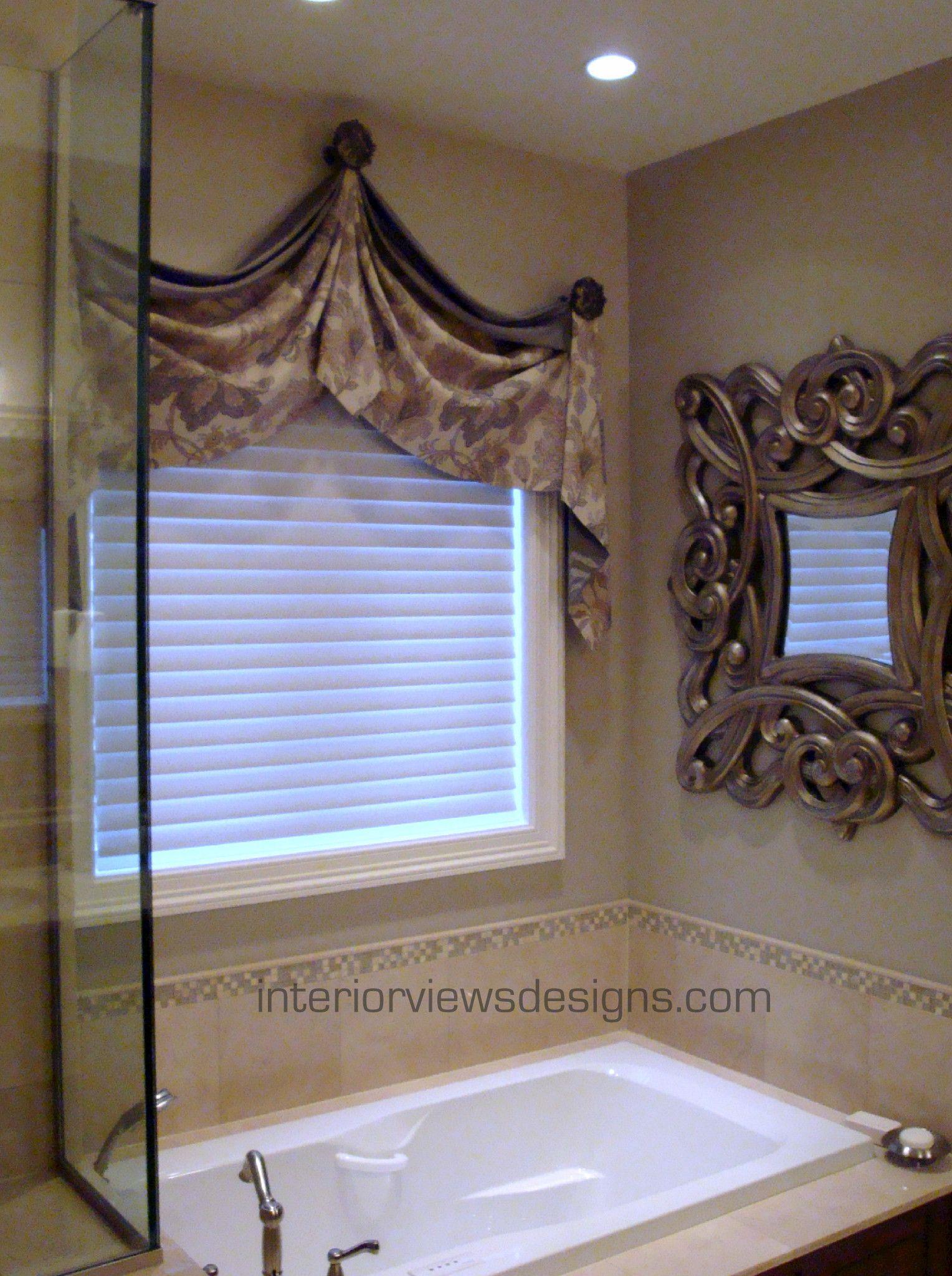 Bathroom Window Treatments Over Tub Valances