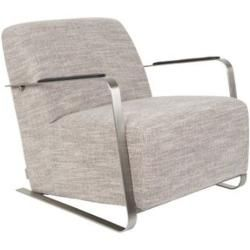 Photo of Adwin lounge chair in light gray by Zuiver Flamingo Royale