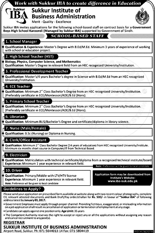 Sukkur Institute Of Business Administration Jobs Sukkur Iba